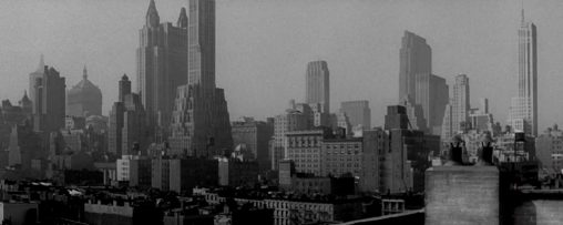 The Lost Weekend 1945 New York skyline
